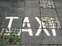 Taxi de la palabra Imágenes de archivo libres de regalías