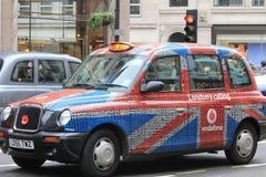 Taxi de Londres, el Reino Unido imagen de archivo libre de regalías