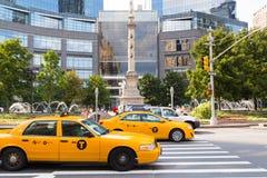 Taxi de New York Photos stock