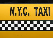 Taxi de NYC Photographie stock