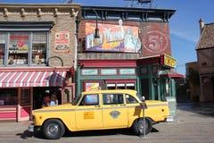 Taxi de NYC de la película del cuello azul Imágenes de archivo libres de regalías
