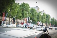Taxi de París Foto de archivo