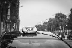 Taxi de París Fotografía de archivo libre de regalías