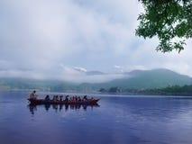 taxi de pokhara de lac Photographie stock