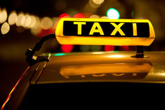 Taxi de taxi Photos stock
