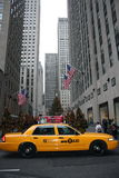 Taxi de taxi de New York Images stock