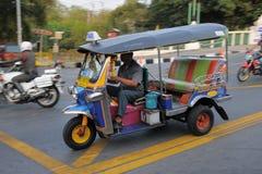 Taxi de Tuk à roues par trois Tuk à Bangkok Photos stock
