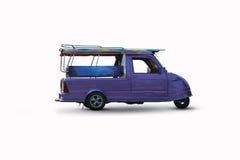 Taxi de Tuk Tuk en Tailandia en blanco Fotografía de archivo