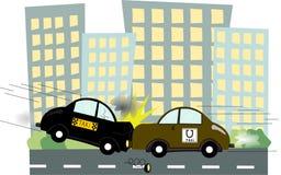 Taxi de Uber stock de ilustración