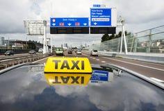 Taxi de ville Images libres de droits