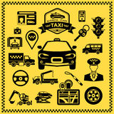 Taxi Decorative Icons Set Royalty Free Stock Image