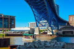 Taxi del agua de Cleveland Ohio Imagenes de archivo