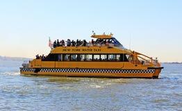 Taxi del agua de NY Fotos de archivo libres de regalías