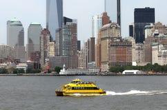 Taxi del agua de NYC Imagenes de archivo