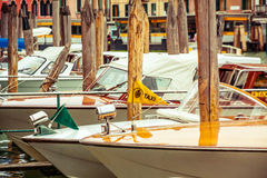 Taxi del agua en Venecia Fotos de archivo