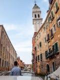 Taxi del agua, Venecia, Italia fotos de archivo