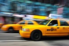 Taxi del amarillo de Nueva York Imagenes de archivo