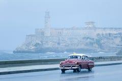 Taxi del malecon di Avana Immagini Stock