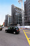 Taxi del negro de Londres Foto de archivo