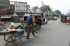 Taxi del risciò o della bicicletta Immagine Stock Libera da Diritti