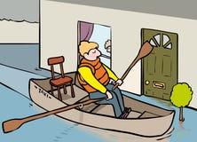 Taxi dell'inondazione Immagine Stock