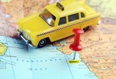 Taxi della mappa di Bombay India Fotografia Stock