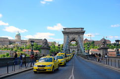 Taxi demonstration in Budapest Royalty Free Stock Images