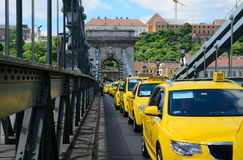 Taxi demonstration in Budapest Stock Photography