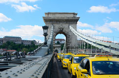 Taxi demonstration in Budapest Stock Photo