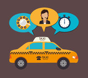 Taxi design, vector illustration. Stock Image