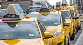 Taxi di New York City Immagine Stock
