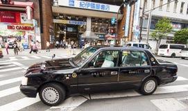 Taxi in distric Shinjuku, Tokyo Royalty-vrije Stock Afbeeldingen