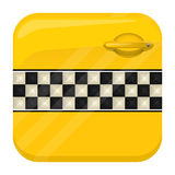 Taxi door app icon Royalty Free Stock Photos