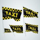 Taxi - drapeaux noirs de vecteur Photographie stock