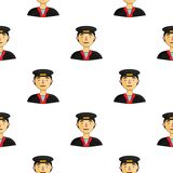 Taxi drive icon in cartoon style isolated on white background. People of different profession pattern stock vector Stock Photography