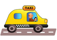 Taxi driver. Smiling and friendly taxi driver - vetror illustration Royalty Free Stock Photography
