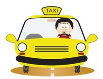Taxi Driver. Illustration for you design Royalty Free Stock Photography