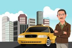 Taxi driver. A vector illustration of a taxi driver vector illustration