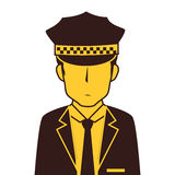 taxi driver avatar character Royalty Free Stock Photo