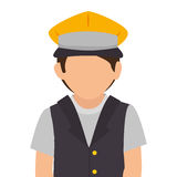 taxi driver avatar character Royalty Free Stock Image