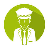 taxi driver avatar character Stock Images