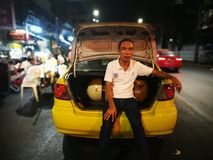 Bangkok taxi royalty free stock photography