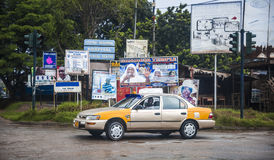 Taxi driver in Cape Cost in Ghana Stock Photo