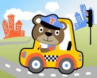 Taxi driver cartoon Stock Photos
