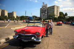 Taxi driver in Cuba Royalty Free Stock Image
