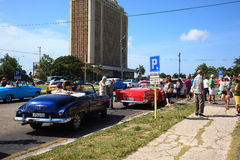 Taxi driver in Cuba Royalty Free Stock Photos