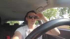 Taxi driver driving a car