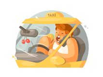 Taxi driver driving Stock Photography