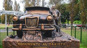 Taxi monument in Buenos aires stock photo