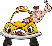 Taxi driver - road rage Stock Image